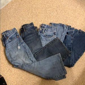 4 pairs GAP boy jeans